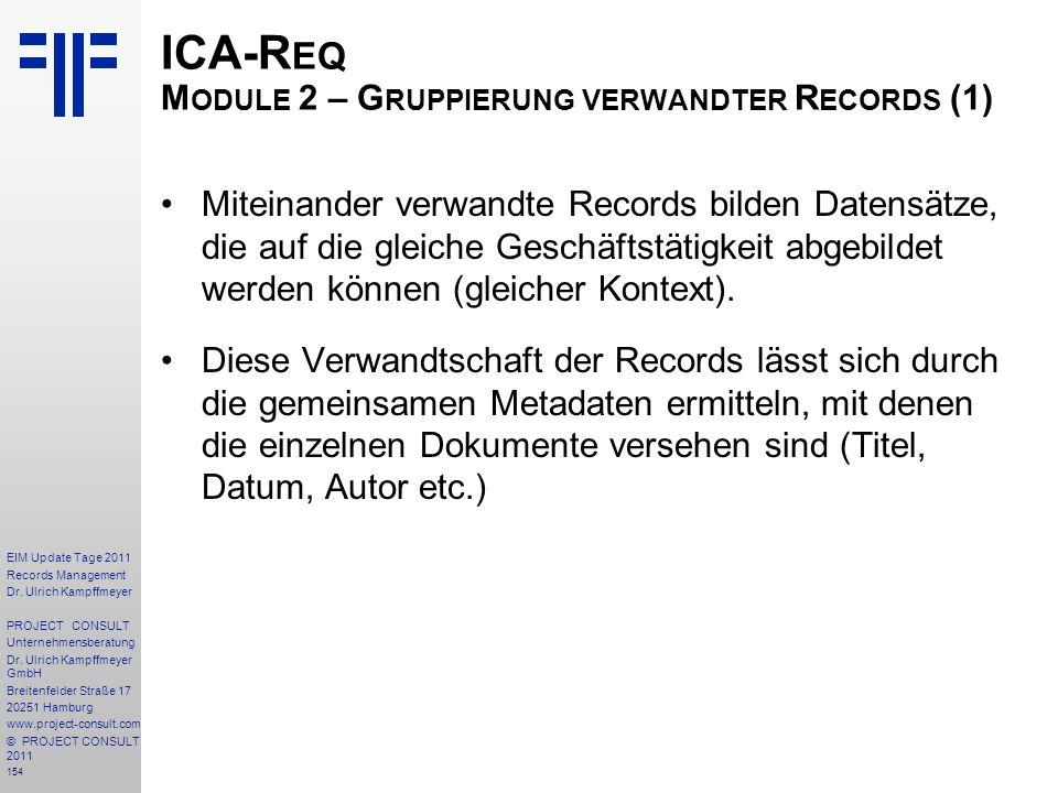 ICA-Req Module 2 – Gruppierung verwandter Records (1)