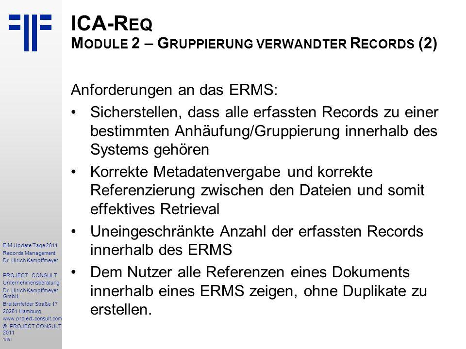 ICA-Req Module 2 – Gruppierung verwandter Records (2)