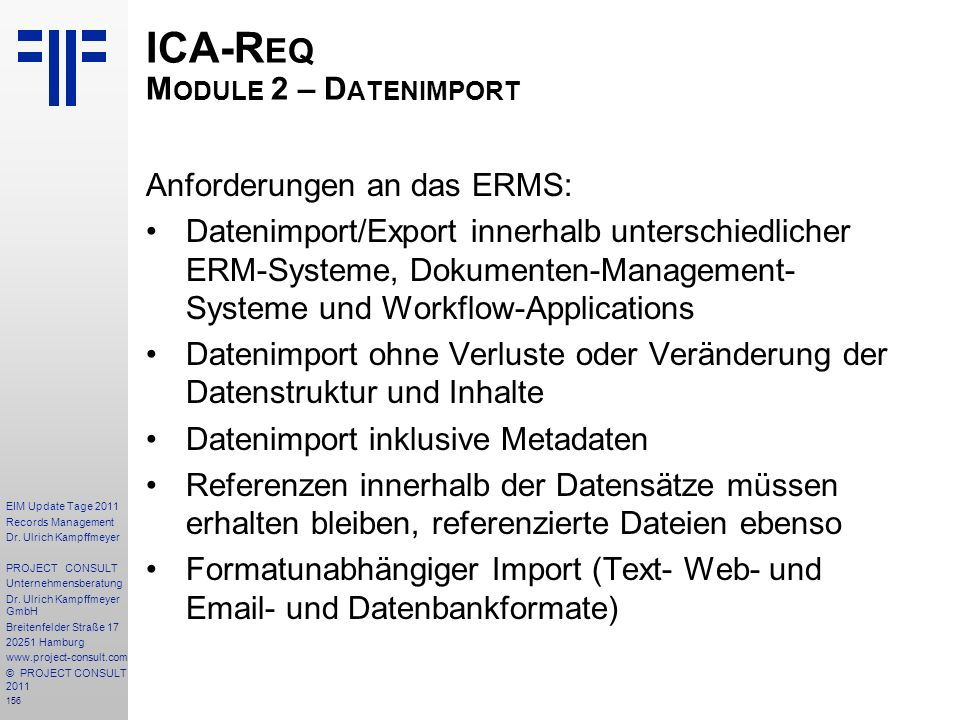 ICA-Req Module 2 – Datenimport