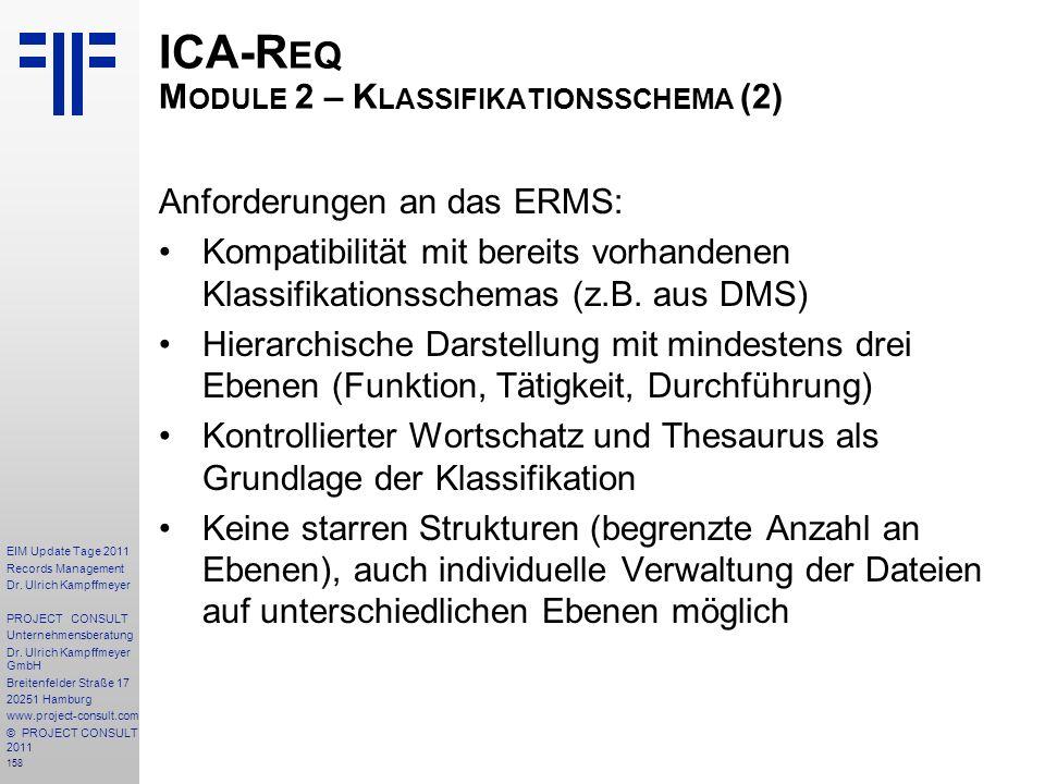 ICA-Req Module 2 – Klassifikationsschema (2)