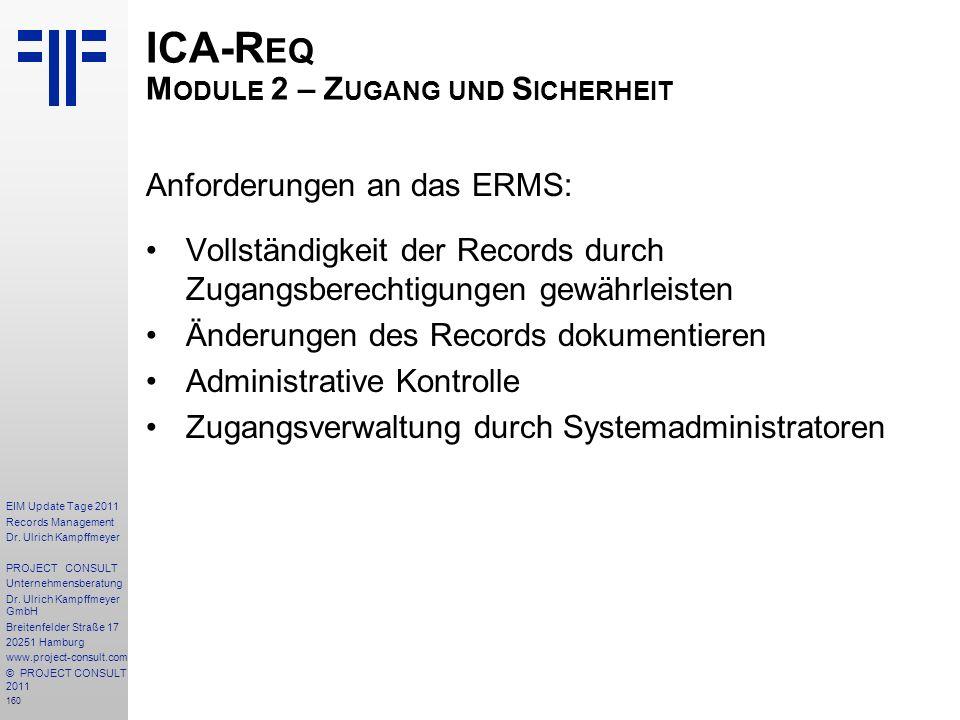 ICA-Req Module 2 – Zugang und Sicherheit