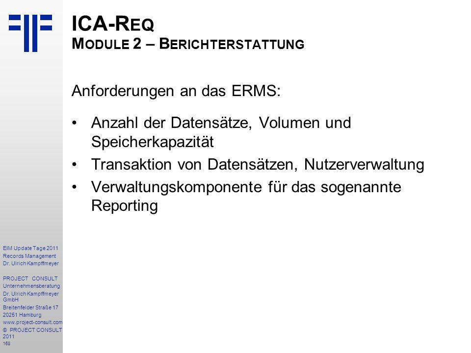 ICA-Req Module 2 – Berichterstattung