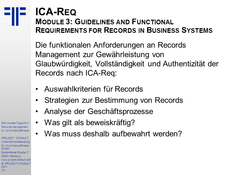 ICA-Req Module 3: Guidelines and Functional Requirements for Records in Business Systems