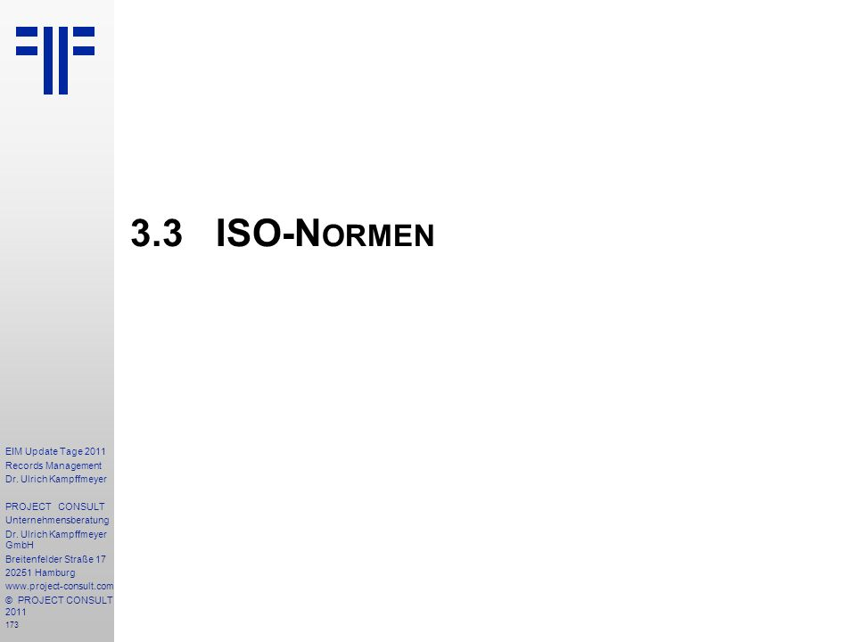 3.3 ISO-Normen