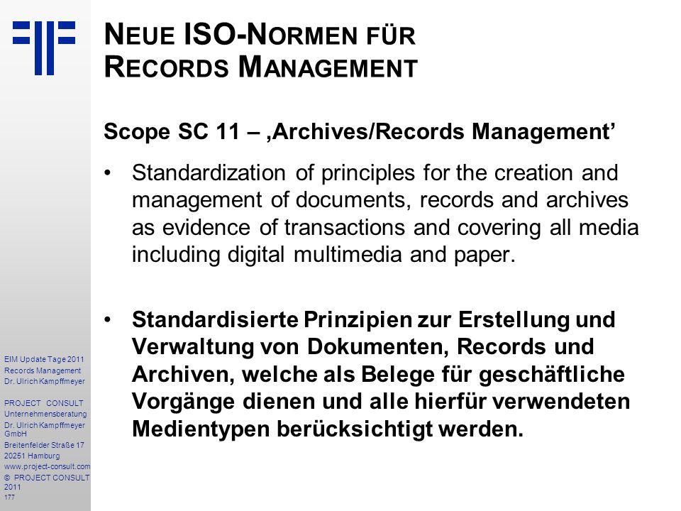 Neue ISO-Normen für Records Management