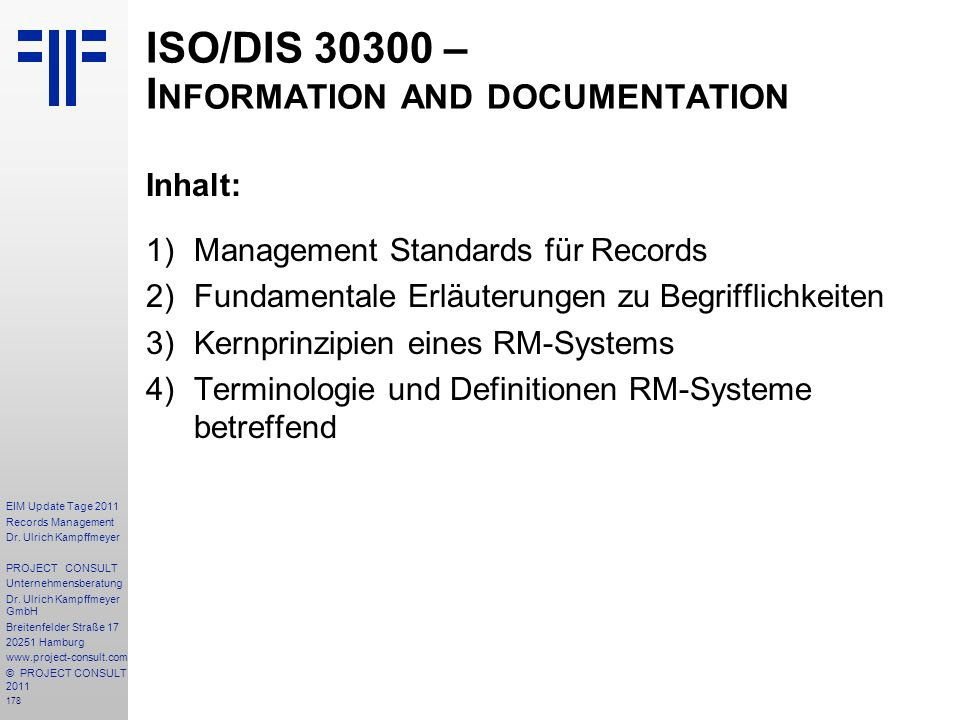 ISO/DIS – Information and documentation