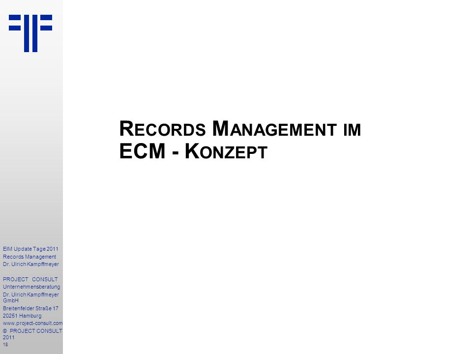Records Management im ECM - Konzept