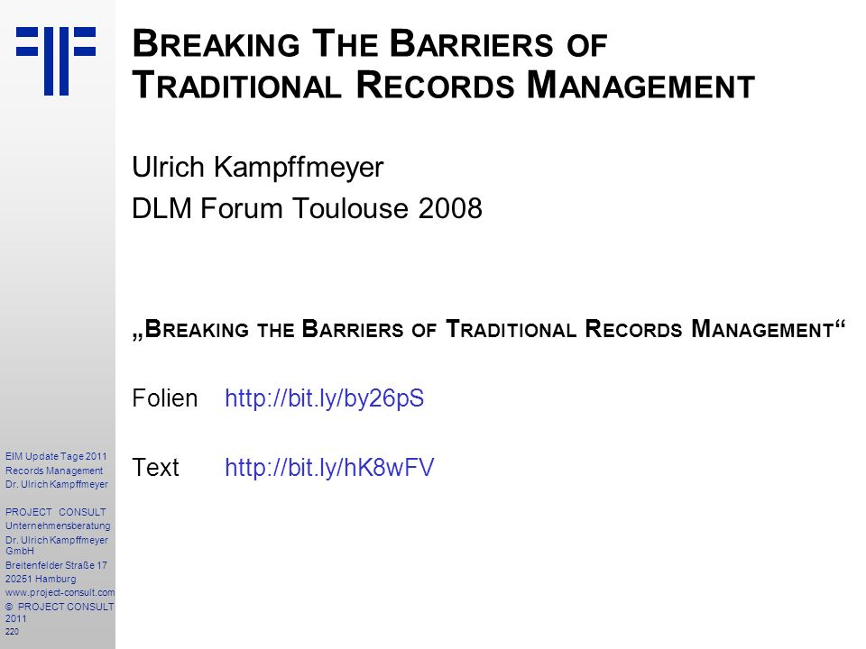 Breaking The Barriers of Traditional Records Management