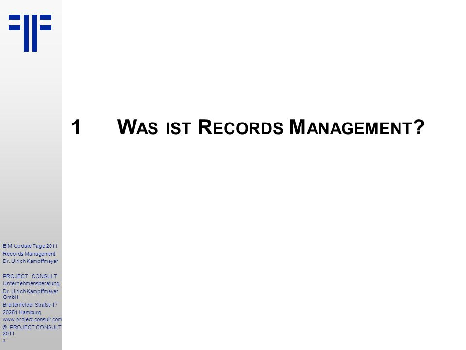 1 Was ist Records Management
