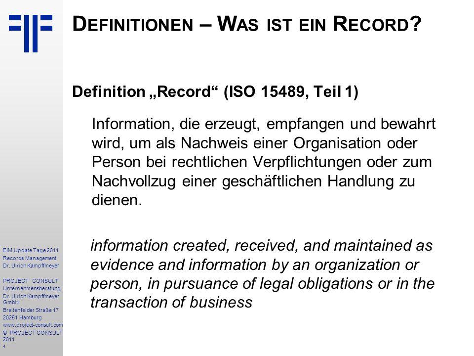 Definitionen – Was ist ein Record