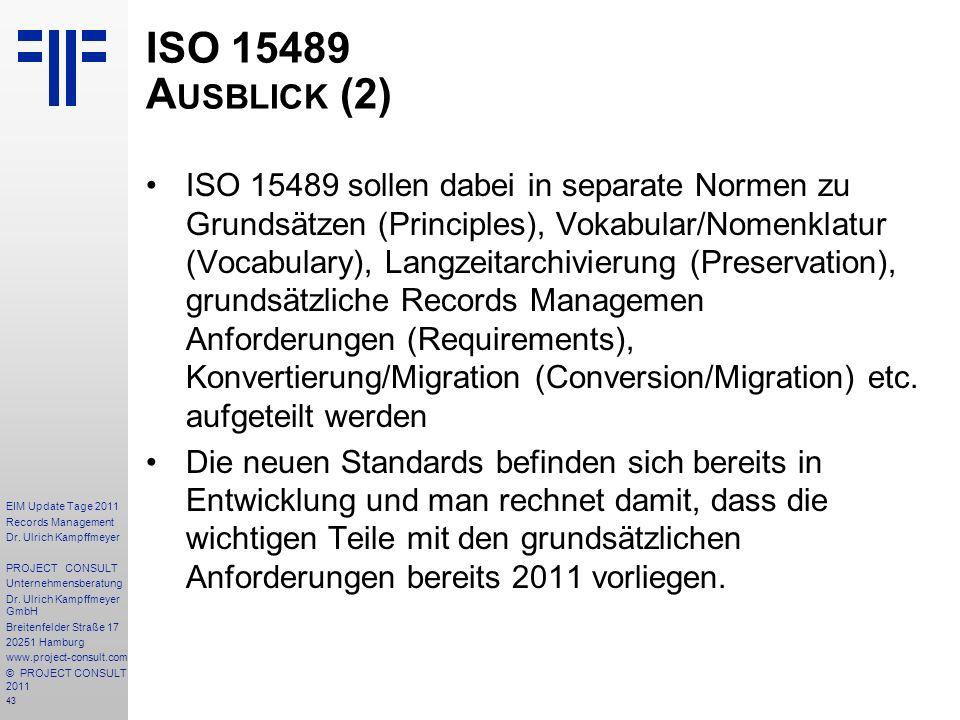 ISO 15489 Ausblick (2)