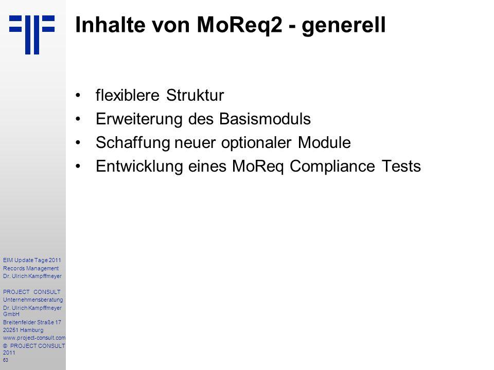 Inhalte von MoReq2 - generell