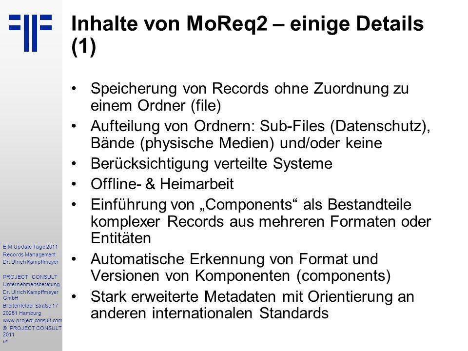 Inhalte von MoReq2 – einige Details (1)