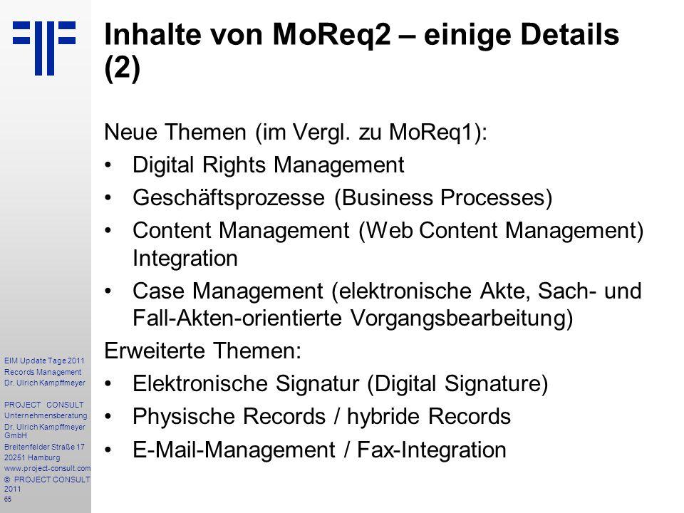 Inhalte von MoReq2 – einige Details (2)