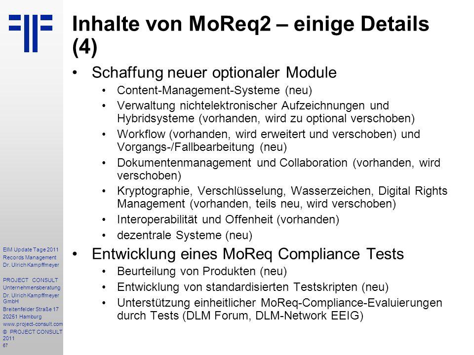 Inhalte von MoReq2 – einige Details (4)