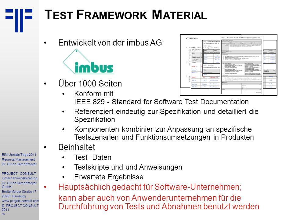 Test Framework Material
