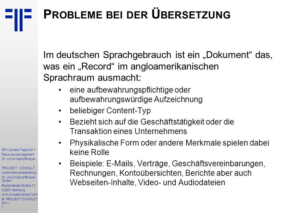 Probleme bei der Übersetzung