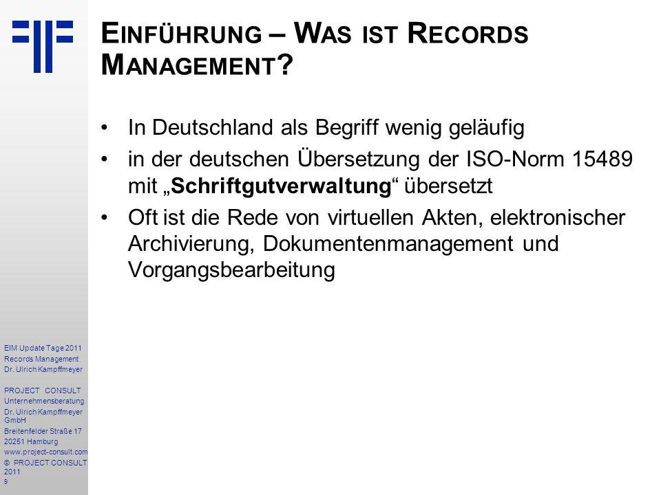 Einführung – Was ist Records Management