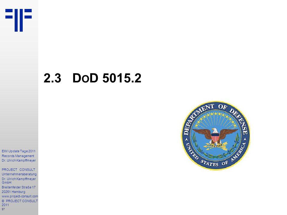 2.3 DoD 5015.2