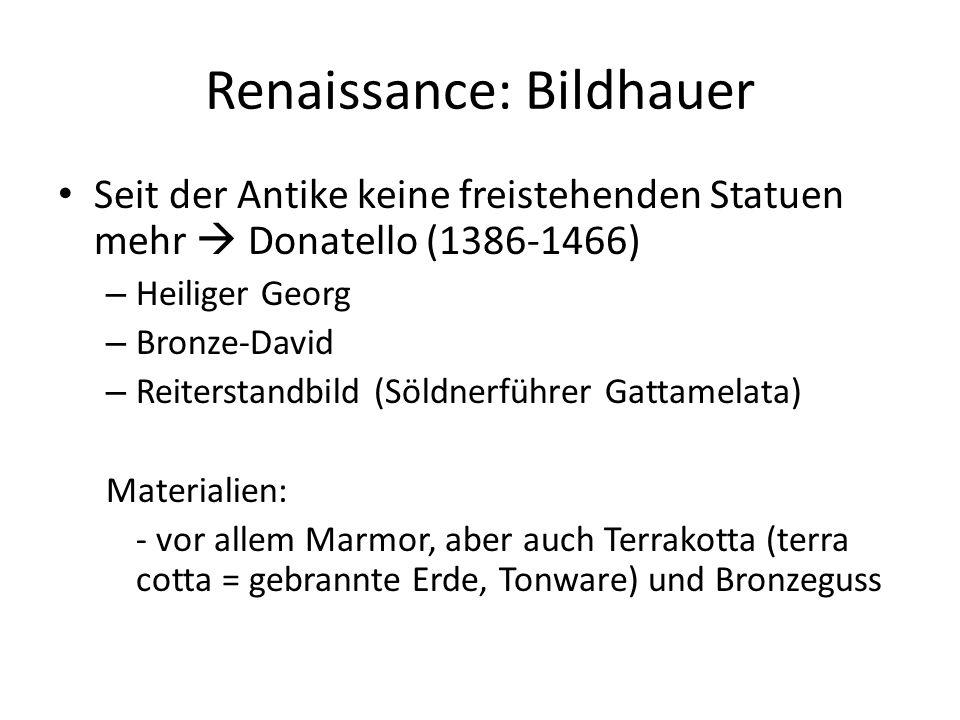 Renaissance: Bildhauer