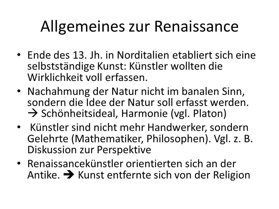 Allgemeines zur Renaissance