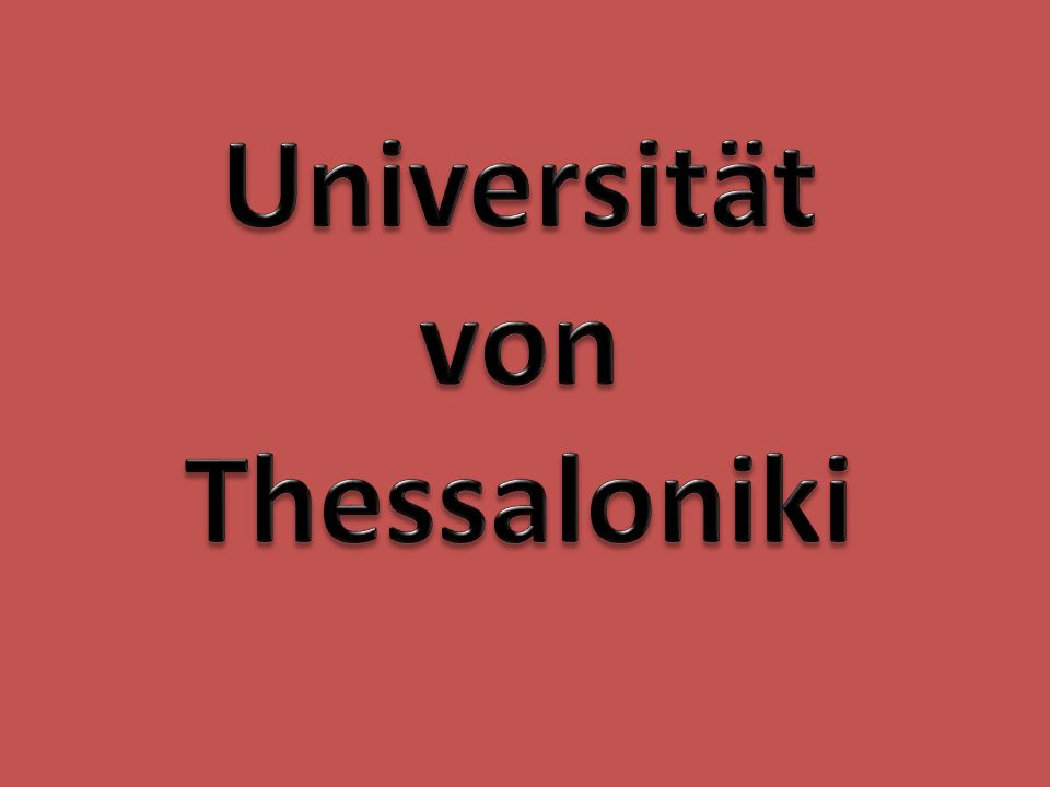 Universität von Thessaloniki