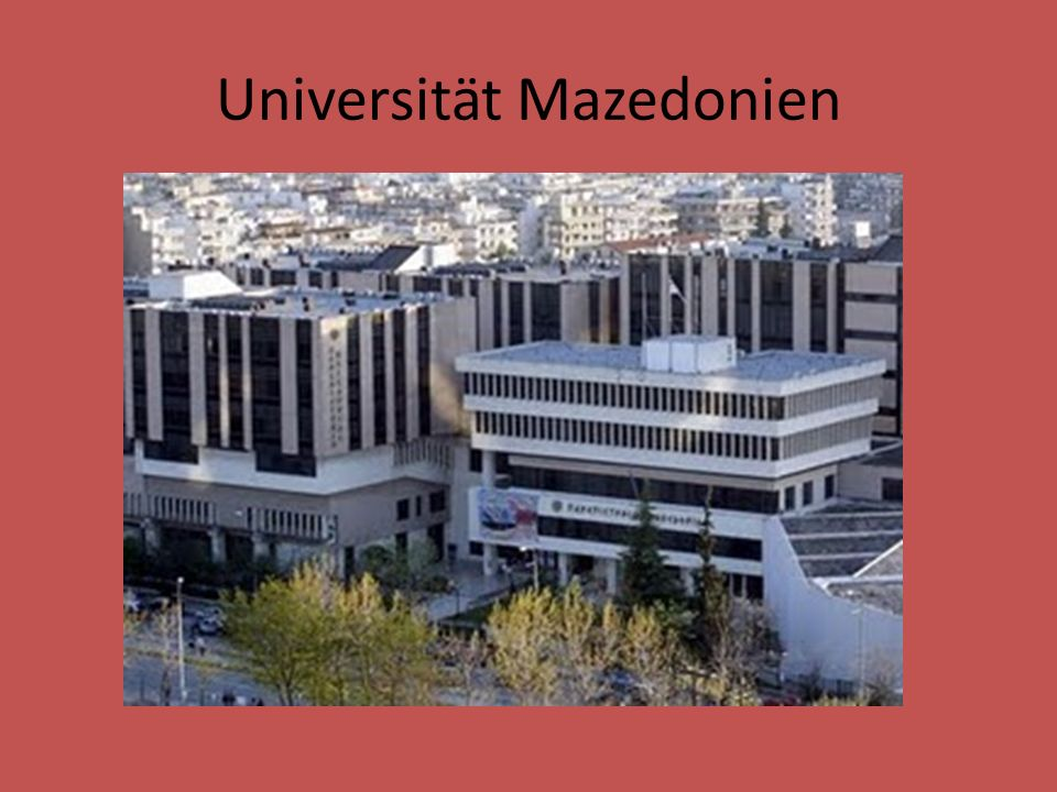 Universität Mazedonien