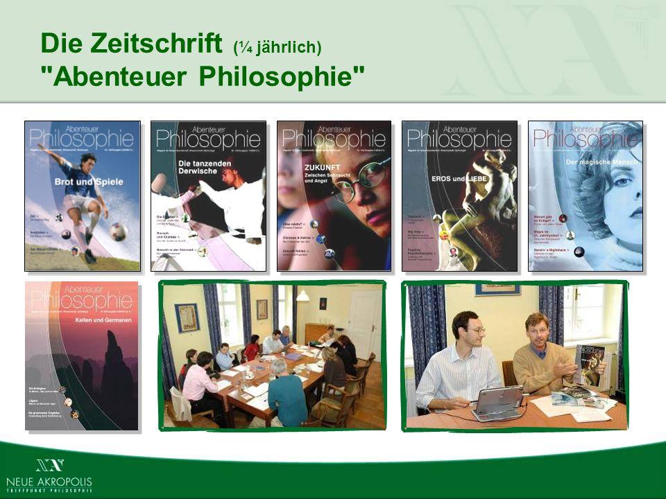 Die Zeitschrift (¼ jährlich) Abenteuer Philosophie