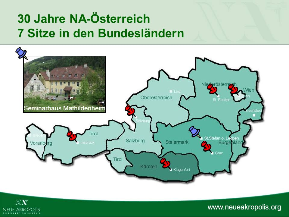30 Jahre NA-Österreich 7 Sitze in den Bundesländern