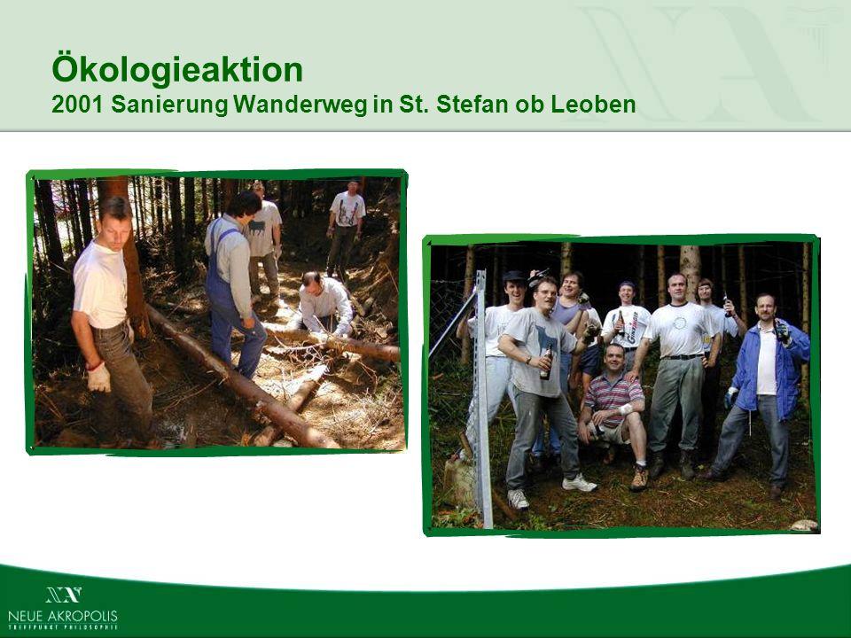 Ökologieaktion 2001 Sanierung Wanderweg in St. Stefan ob Leoben