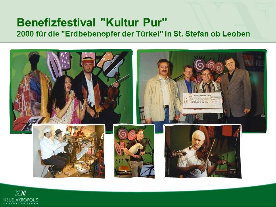 Benefizfestival Kultur Pur 2000 für die Erdbebenopfer der Türkei in St. Stefan ob Leoben