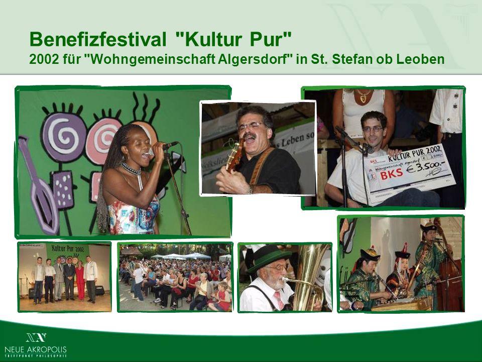 Benefizfestival Kultur Pur 2002 für Wohngemeinschaft Algersdorf in St. Stefan ob Leoben