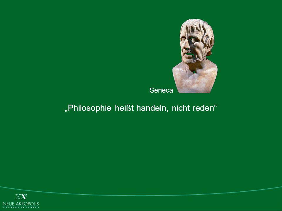"""""""Philosophie heißt handeln, nicht reden"""
