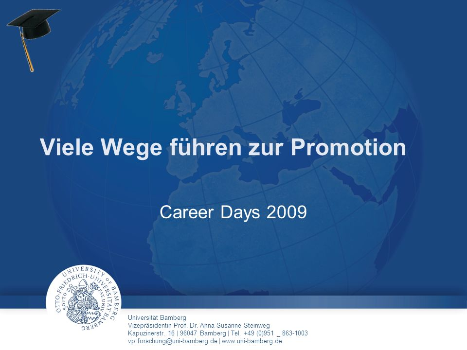 Viele Wege führen zur Promotion