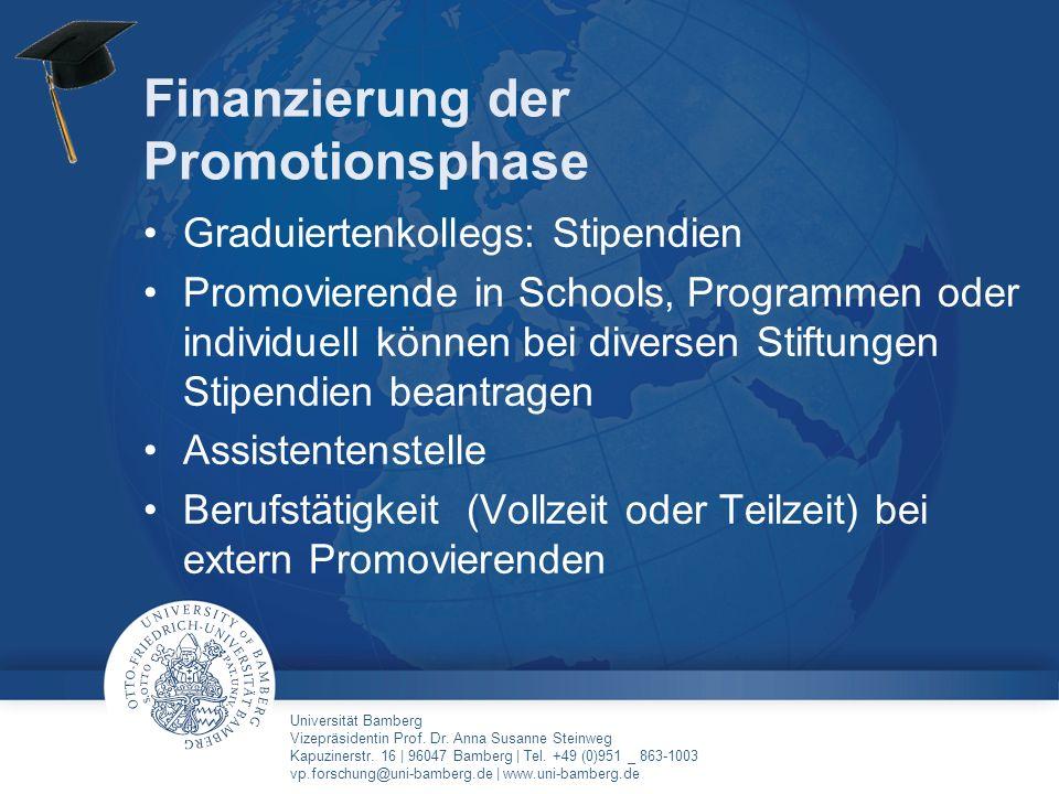 Finanzierung der Promotionsphase