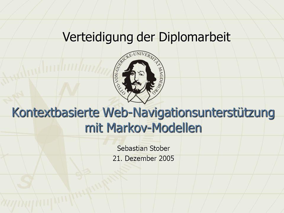 Kontextbasierte Web-Navigationsunterstützung mit Markov-Modellen