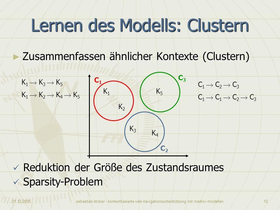 Lernen des Modells: Clustern