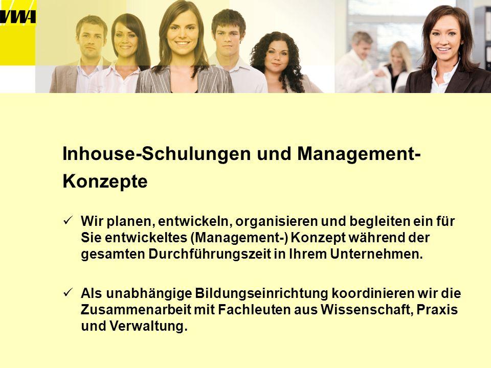 Inhouse-Schulungen und Management- Konzepte