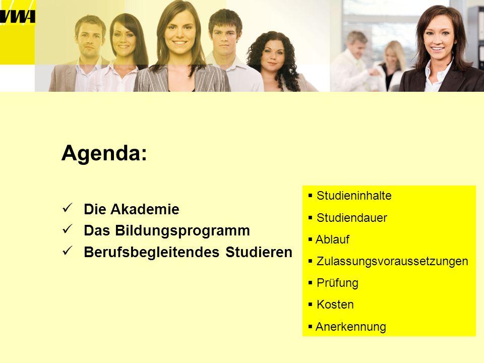 Agenda: Die Akademie Das Bildungsprogramm Berufsbegleitendes Studieren