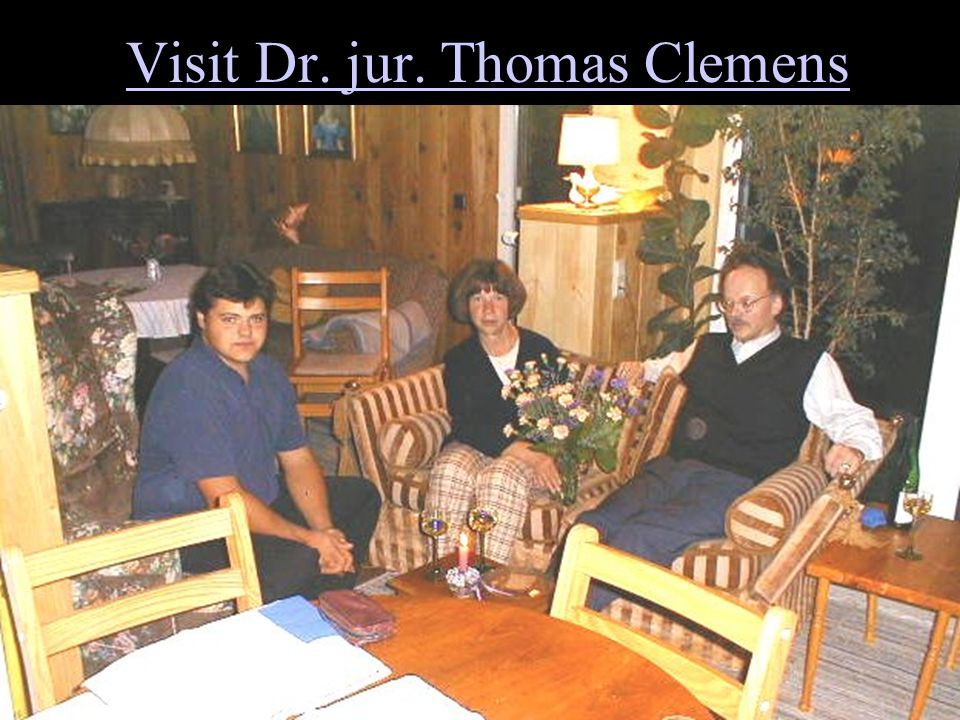Visit Dr. jur. Thomas Clemens