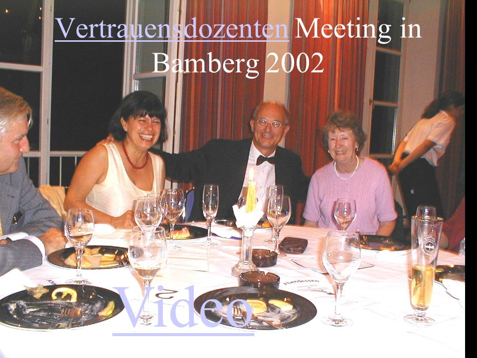 Vertrauensdozenten Meeting in Bamberg 2002