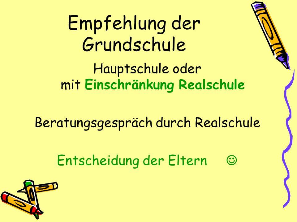 Empfehlung der Grundschule