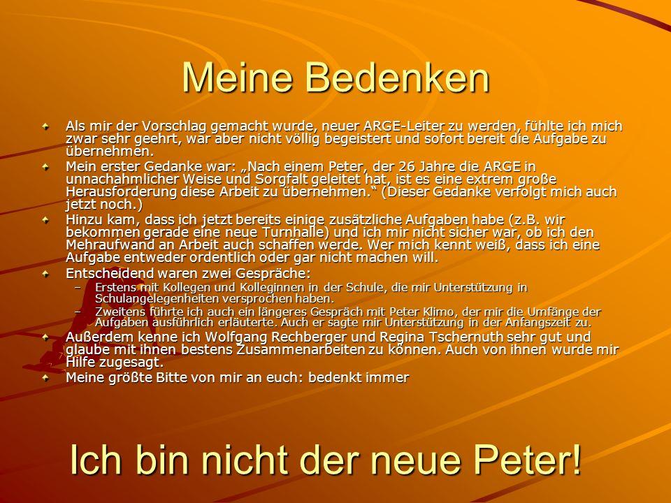 Ich bin nicht der neue Peter!
