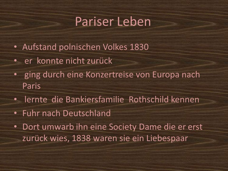 Pariser Leben Aufstand polnischen Volkes 1830 er konnte nicht zurück