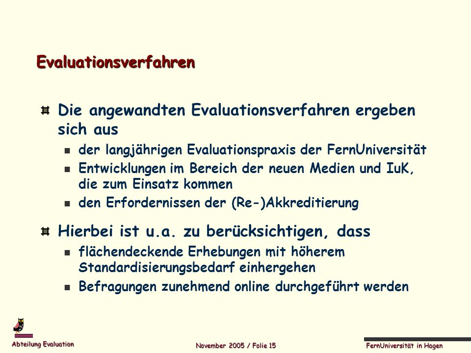 Evaluationsverfahren