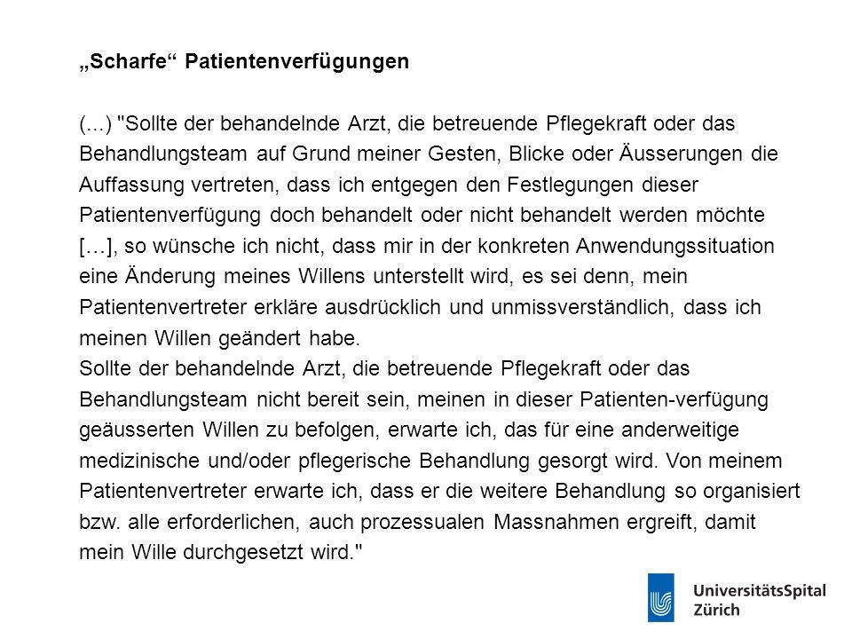 """""""Scharfe Patientenverfügungen ("""
