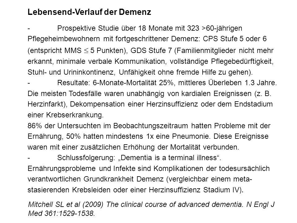 Lebensend-Verlauf der Demenz -