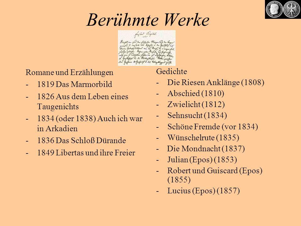 Berühmte Werke Romane und Erzählungen 1819 Das Marmorbild