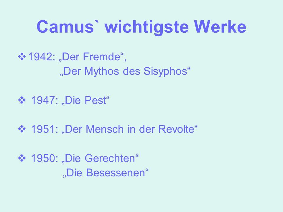 Camus` wichtigste Werke