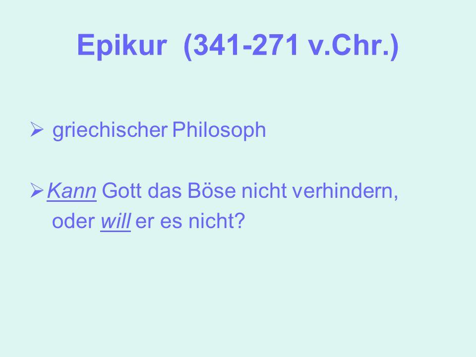 Epikur (341-271 v.Chr.) griechischer Philosoph